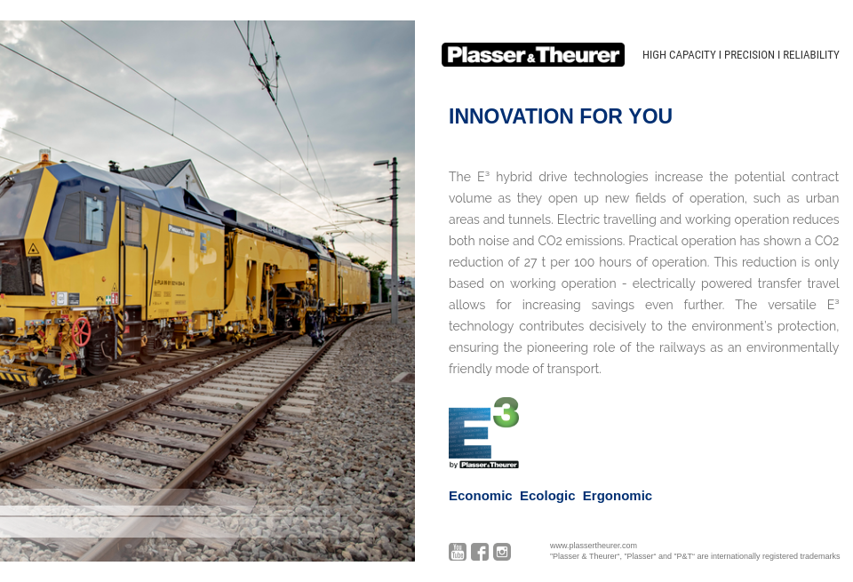 Plasser & Theurer - Future Rail   Yearbook 2018